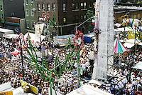 "The ""Giglio"" and the ""Boat"" meet at the annual Feast of Our Lady of Mount Carmel and the Dancing of the Giglio in Brooklyn, NY, on July 13, 2003."