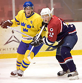 Mattias Hellstrom (MODO Hockey), Justin Abdelkader (Michigan State University - Detroit Red Wings)  The US Blue team lost to Sweden 3-2 in a shootout as part of the 2005 Summer Hockey Challenge at the National Junior (U-20) Evaluation Camp in the 1980 rink at Lake Placid, NY on Saturday, August 13, 2005.