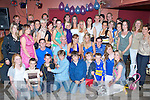 Double Celebrations - Kate Dowling, Ardfert & Catherine Collins, Kilmoyley, seated centre having a ball with family and friends at their 21st birthday bash held in McElligot's Bar, Ardfert on Friday night.. ............
