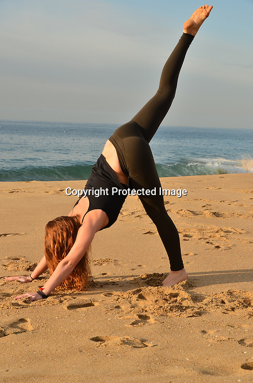 Stock photo woman using holistic yoga for health