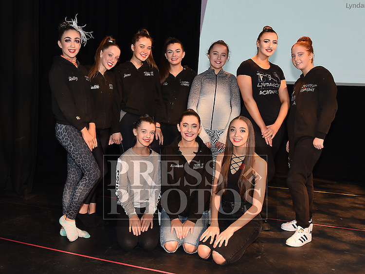 The Senior Elite group who took part in the Lyndance Company Showcase in the Droichead Arts Centre. Photo:Colin Bell/pressphotos.ie