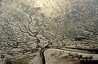 Deutschland, Nordsee, Wattenmeer, Wellen, Gold, Priel Wasser, Nationalpark Schleswig Holsteinisches Wattenmeer