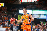 VALENCIA, SPAIN - June 11: Nedovic during SEMI FINAL ENDESA LEAGUE match between Valencia Basket Club and Real Madrid Basket at Fonteta Stadium on June 11, 2015 in Valencia, Spain