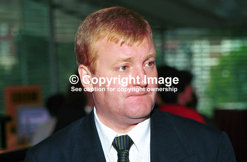 Charles Kennedy, MP, party leader, Liberal Democrats, Britain, UK,199909028. Taken at Annual Conference, Harrogate, September 1999.<br />