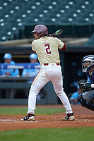 Gian Martellini (2) of the Boston College Eagles at bat against the North Carolina Tar Heels in Game Five of the 2017 ACC Baseball Championship at Louisville Slugger Field on May 25, 2017 in Louisville, Kentucky. The Tar Heels defeated the Eagles 10-0 in a game called after 7 innings by the Mercy Rule. (Brian Westerholt/Four Seam Images)