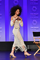 "HOLLYWOOD, CA - MARCH 23: Indya Moore at PaleyFest 2019 for FX's ""Pose"" panel at the Dolby Theatre on March 23, 2019 in Hollywood, California. (Photo by Vince Bucci/FX/PictureGroup)"