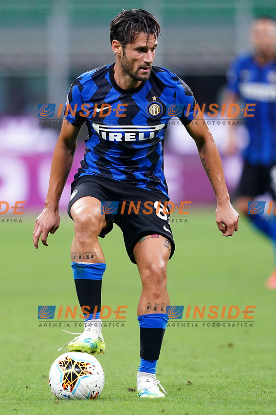 Antonio Candreva of FC Internazionale in action during the Serie A football match between FC Internazionale and SSC Napoli at San Siro stadium in Milano (Italy), July 28th, 2020. Play resumes behind closed doors following the outbreak of the coronavirus disease. Photo Marco Canoniero / Insidefoto