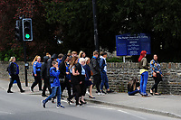 Pictured: Family and friends arrive at the Gelligaer Church, in Gelligaer, Wales, UK Tuesday 07 May 2019<br /> Re: Funeral of 13 year old Carson Price at Gelligaer Church, in Gelligaer, Wales, UK.<br /> Schoolboy Carson Price was found at a park in Ystrad Mynach, south Wales at the start of the Easter school holidays.<br /> It is believed he had taken MDMA Donkey Kong tablets.