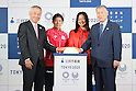 (L-R) Masanobu Komoda, Saori Yoshida, Mami Tani (JPN), Yoshiro Mori, SEPTEMBER 20, 2016 : The Tokyo 2020 Organising Committee and Mitsui Fudosan held a Opening ceremoy of Nihonbashi City dressing in Tokyo, Japan. Japanese Olympian and Paralympian photos and movies were exhibited in the Nihonbashi in Tokyo, Japan.  (Photo by Yusuke Nakanishi/AFLO SPORT)