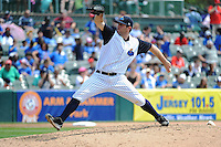 Trenton Thunder pitcher Jeremy Bleich (29) during game against the Erie SeaWolves at ARM & HAMMER Park on May 29 2013 in Trenton, NJ.  Trenton defeated Erie 3-1.  Tomasso DeRosa/Four Seam Images