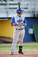 April 14, 2010:  Second Baseman Brad Agustin of the Buffalo Bulls during a game at Sal Maglie Stadium in Niagara Falls, NY.  Photo By Mike Janes/Four Seam Images