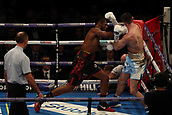 2nd February 2019 The O2 Arena, London, England; Boxing, European Super-Welterweight Championship, Sergio Garcia versus Ted Cheeseman; Craig Richards connects with a right shot and knocks down Jake Ball