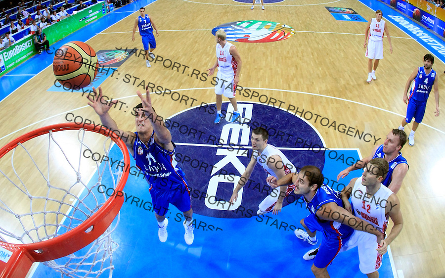 Marko Keselj during quarterfinal basketball game between Russia and Serbia in Kaunas, Lithuania, Eurobasket 2011, Thursday, September 15, 2011. (photo: Pedja Milosavljevic)