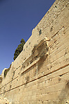 Israel, Jerusalem Archaeological Park, remains of Robinson's Arch at the southern side of the Western Wall