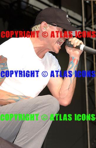 Linkin Park; Live, 2003<br /> Photo Credit: Eddie Malluk/Atlas Icons.com
