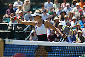 June 18th 2017, Nottingham, England;WTA Aegon Nottingham Open Tennis Tournament day 6;  Fist pump from Monique Adamczak of Australia she and her partner Storm Sanders of Australia move to match point in the ladies doubles final against Jocelyn Rae and Laura Robson of Great Britain