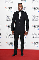 "director, Nate Parker<br /> at the London Film Festival 2016 premiere of ""The Birth of a Nation"" at the Odeon Leicester Square, London.<br /> <br /> <br /> ©Ash Knotek  D3173  11/10/2016"