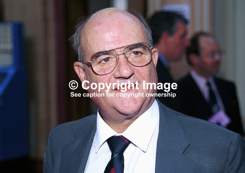 John Taylor, Conservative Party, MP, Britain, UK, Annual Conference, Blackpool, 199910041<br />