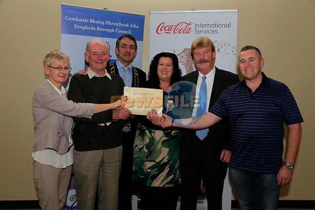 Eimear Maguire, John Carroll, Richie Culhane Brian Kearns James Leonard. Five Oaks.<br /> Beauth on the Boyne Awards<br /> Picture Fran Caffrey www.newsfile.ie