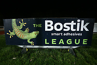 General view of Bostik League sign during AFC Hornchurch vs Great Wakering Rovers, BBC Essex Senior Cup Football at Hornchurch Stadium on 4th December 2018
