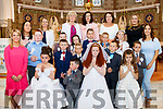 Pupils from Muire Gan Smál, Presentation, Castleisland and Castleisland Boys National school pictured together at the alter of St Stephans&John's church, Castleisland after making their First Holy Communion last Saturday morning.
