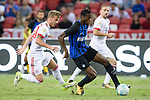 FC Internazionale Midfielder Geoffrey Kondogbia (R) plays against Bayern Munich Midfielder Niklas Dorsch (L) during the International Champions Cup match between FC Bayern and FC Internazionale at National Stadium on July 27, 2017 in Singapore. Photo by Weixiang Lim / Power Sport Images