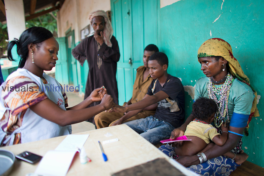 Sick patients being treated at MSF hospital in Central African Republic