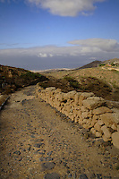 Old road between villages in San Miguel de Abona, Tenerife, Canary Islands
