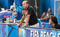RAVENNA, ITALIA, 08 DE SETEMBRO DE 2011 - COPA DO MUNDO DE BEACH SOCCER - <br /> <br /> PORTUGAL X SENEGAL-  Ze Miguel Mateus tecnico do Portugal durante de partida contra a Senegal, válida <br /> <br /> pelas quartas de final da Copa do Mundo de Beach Soccer, no Estádio Del Mare, em <br /> <br /> Ravenna, Itália, nesta quinta-feira (8). FOTO: VANESSA CARVALHO - NEWS FREE