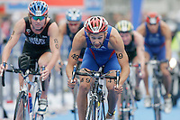 31 AUG 2007 - HAMBURG, GER - Vincent Luis (FRA) - Junior Mens World Triathlon Championships. (PHOTO (C) NIGEL FARROW)