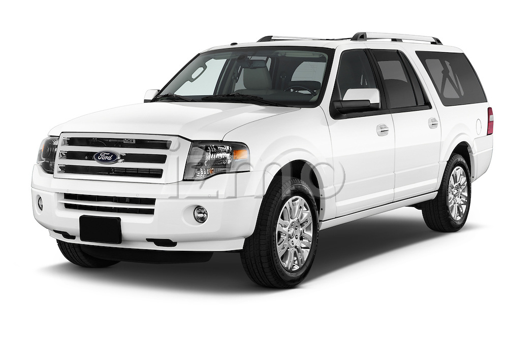 2014 Ford Expedition Limited EL 5 Door SUV Angular front three quarter view Stock Photo
