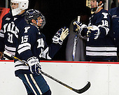 Clinton Bourbonais (Yale - 15) - The Yale University Bulldogs defeated the Harvard University Crimson 5-1 on Saturday, November 3, 2012, at Bright Hockey Center in Boston, Massachusetts.
