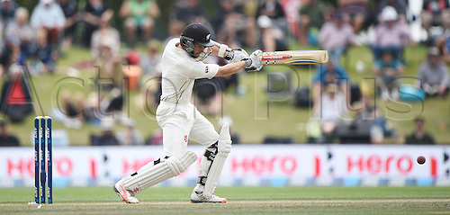 23.02.2016. Christchurch, New Zealand.  Kane Williamson batting on Day 4 of the 2nd test match. New Zealand Black Caps versus Australia. Hagley Oval in Christchurch, New Zealand. Tuesday 23 February 2016.