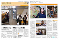 Helsingin Sanomat (leading Finnish daily) on school education, Budapest, Hungary, February 2016<br />
