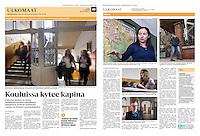 Helsingin Sanomat (leading Finnish daily) on school education, Budapest, Hungary, February 2016<br /> Photos: Martin Fejer