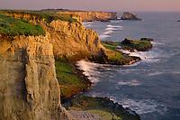 Sandstone headlands<br />     south of Davenport<br /> Santa Cruz County<br /> California