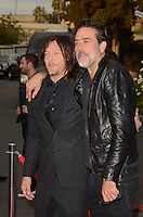 HOLLYWOOD, CA - OCTOBER 23: Jeffrey Dean Morgan and Norman Reedus at AMC Presents Live, 90-Minute Special Edition of 'Talking Dead' at Hollywood Forever on October 23, 2016 in Hollywood, California. Credit: David Edwards/MediaPunch
