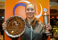Hilversum, Netherlands, December 2, 2018, Winter Youth Circuit Masters, Masters overall winner girls 16 years: Anouk Koevermans (NED)<br />