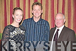 Pictured at the Monsignor Hugh O'Flaherty weekend were Kate Kennelly, Dan O'Driscoll and Michael O'Leary in The Killarney Plaza hotel on Saturday night.......