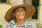 Woman in stylish hat, Lobo Village