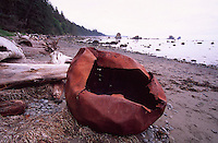Metal Debris near Cape Alava, Olympic National Park, US