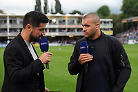 Jonathan Jopseh of Bath Rugby on BT Sport at half-time. Gallagher Premiership match, between Bath Rugby and Gloucester Rugby on September 8, 2018 at the Recreation Ground in Bath, England. Photo by: Patrick Khachfe / Onside Images