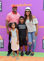 Laila Ali, Curtis Conway, Sydney J Conway, Curtis Muhammad Conway at Nickelodeon's Kids' Choice Sports 2017 at UCLA's Pauley Pavilion. Los Angeles, USA 13 July  2017<br /> Picture: Paul Smith/Featureflash/SilverHub 0208 004 5359 sales@silverhubmedia.com