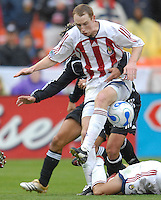 2006 MLS Regular Season Match at RFK Stadium,Chivas USA Defender Tim Regan controling the play in the first half of the game,   final score DC United 2  , Chivas USA  0 , Saturday, April 8.
