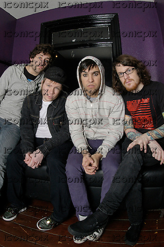 FALL OUT BOY - L-R: Joe Trohman, Patrick Stump, Pete Wentz, Andy Hurley - Photosession in London UK - 29 Jan 2007.  Photo credit: PG Brunelli/In Rock/IconicPix