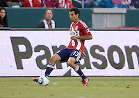 CD Chivas USA midfielder Jonathan Bornstein enters the match late in the game after a long period of injury. The Kansas City Wizards defeated CD Chivas USA 2-0 at Home Depot Center stadium in Carson, California on Sunday September 19, 2010.