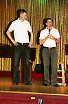 Roger and Damon of We Love Soaps on stage during Weekend on  May 21 and May 22 2010 at Villa Roma Resort in Callicoon, New York. (Photo by Sue Coflin/Max Photos)
