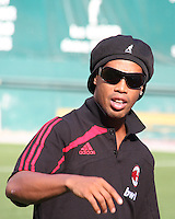 Ronaldinho of AC Milan at a practice session for DC United and AC Milan at RFK Stadium in Washington DC on may 25 2010.