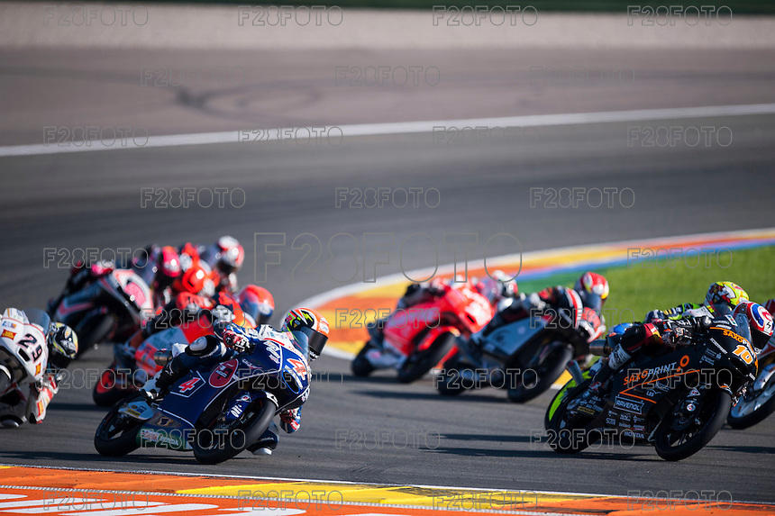 VALENCIA, SPAIN - NOVEMBER 8: Fabio Di Giannantonio during Valencia MotoGP 2015 at Ricardo Tormo Circuit on November 8, 2015 in Valencia, Spain