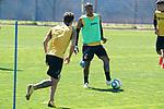 Getafe's Jaime Mata and Robert Kenedy during training session. May 19,2020.(ALTERPHOTOS/Acero)